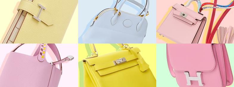 The pastel colors of Hermès!