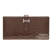 Hermes Bearn Soufflet Cocaon Alligator crocodile skin Silver hardware