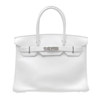 Hermes Birkin bag 30 White Swift leather Silver hardware