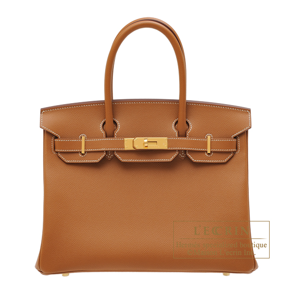 Birkin bag 30 Gold Epsom leather Gold hardware