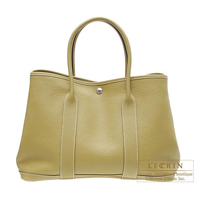 Hermes Garden Party bag PM Cardamome Negonda leather Silver hardware