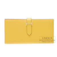Hermes Bearn Soufflet Soleil Epsom leather Gold hardware