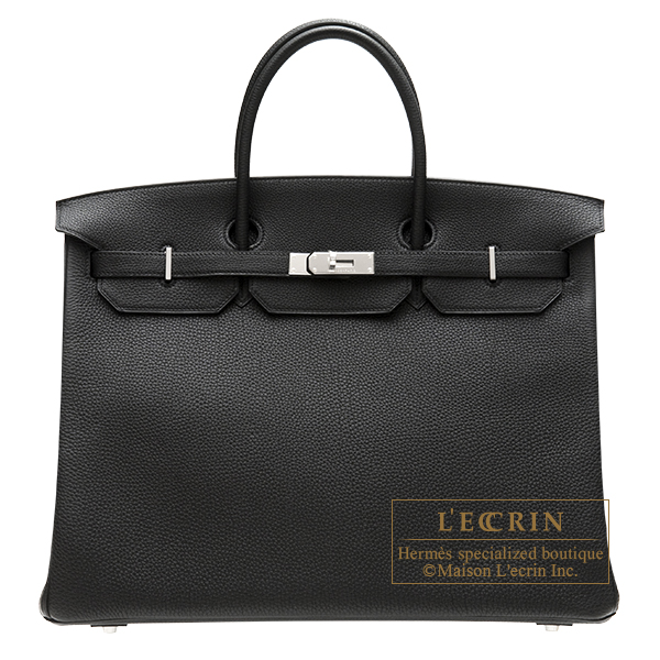 Hermes Birkin bag 40 Black Togo leather Silver hardware