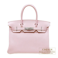 Hermes Birkin bag 30 Rose dragee Swift leather Silver hardware