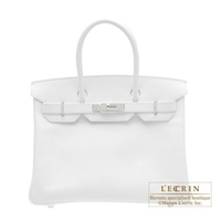 Hermes Birkin bag 30 White Epsom leather Silver hardware