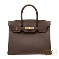 Hermes Birkin bag 30 Chocolat Epsom leather Gold hardware