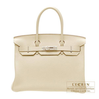 Hermes Birkin bag 30 Parchemin Togo leather Silver hardware