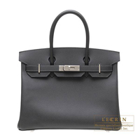 Hermes Birkin bag 30 Graphite Epsom leather Silver hardware