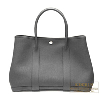 Hermes Garden Party bag PM Ardoise Negonda leather Silver hardware