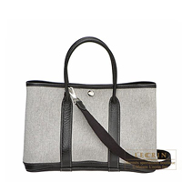 Hermes Garden Party bag TPM Grey Cotton canvas Silver hardware