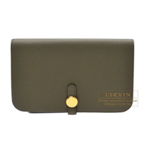Hermes Dogon GM Canopee Togo leather Gold hardware