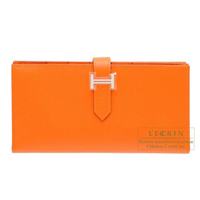 Hermes Bearn Soufflet Feu Epsom leather Silver hardware