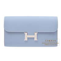 Hermes Constance long Blue lin Epsom leather Silver hardware