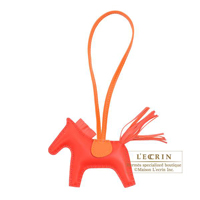Hermes Rodeo charm PM Rouge indien/ Rose jaipur Agneau