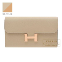 Hermes Constance long Verso Trench/ Natural sable Epsom leather Rose gold hardware