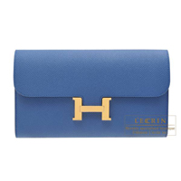 Hermes Constance long Blue agate Epsom leather Gold hardware