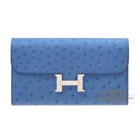 Hermes Constance long Mykonos Ostrich leather Silver hardware