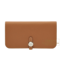 Hermes Dogon Long Gold Togo leather Silver hardware