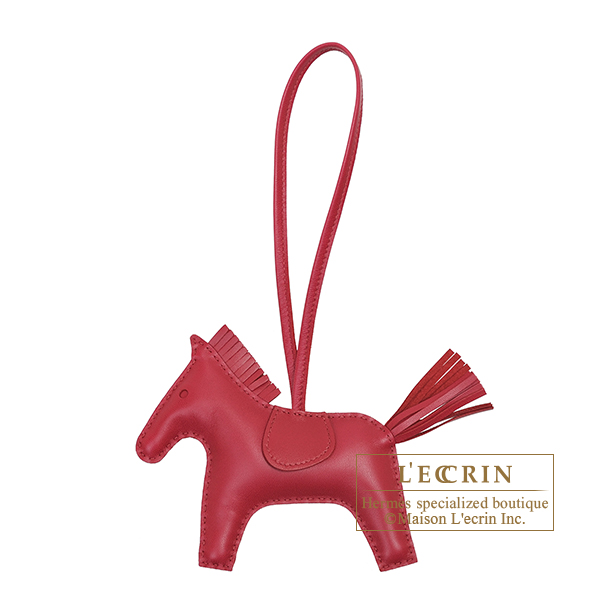 Hermes Rodeo charm MM Ruby Agneau