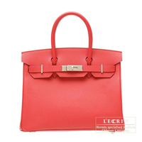 Hermes Birkin bag 30 Bougainvillier Epsom leather Silver hardware