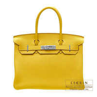 Hermes Birkin bag 30 Soleil Togo leather Silver hardware