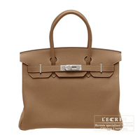 Hermes Birkin bag 30 Alezan Togo leather Silver hardware