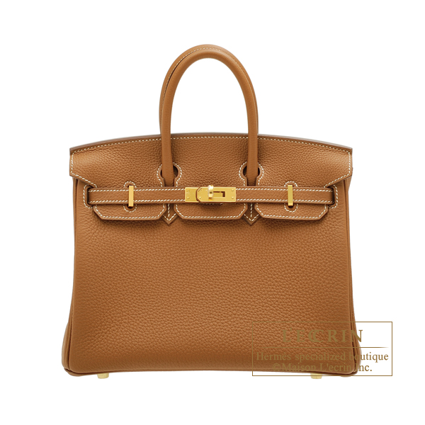 Hermes Birkin bag 25 Gold Togo leather Gold hardware