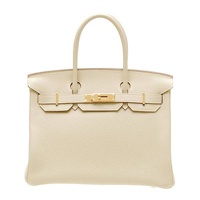 Hermes Birkin bag 30 Parchemin Togo leather Gold hardware