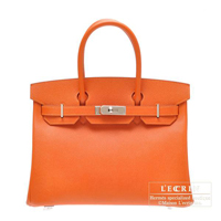 Hermes Birkin bag 30 Feu Epsom leather Silver hardware