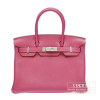 Hermes Birkin bag 30 Tosca Togo leather Silver hardware