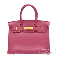 Hermes Birkin bag 30 Tosca Togo leather Gold hardware