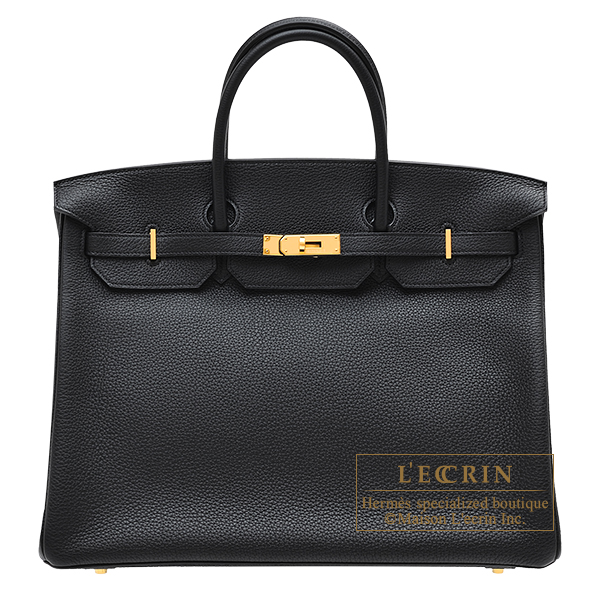 Hermes Birkin bag 40 Black Togo leather Gold hardware
