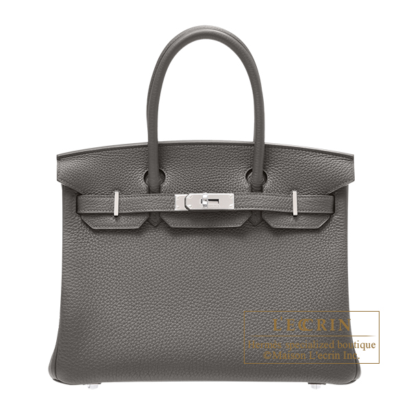 Hermes Birkin bag 30 Vert gris Togo leather Silver hardware