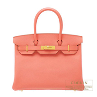 Hermes Birkin bag 30 Flamingo Epsom leather Gold hardware