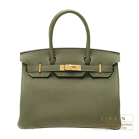 Hermes Birkin bag 30 Canopee Togo leather Gold hardware