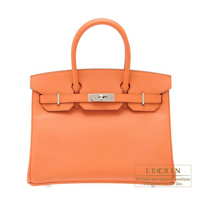 Hermes Birkin bag 30 Mango Epsom leather Silver hardware