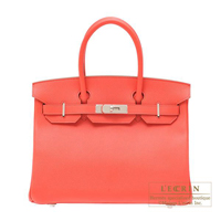 Hermes Birkin bag 30 Rose jaipur Epsom leather Silver hardware