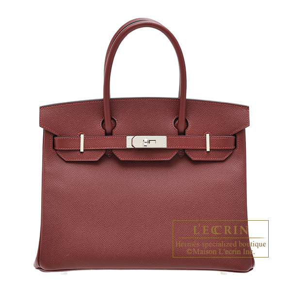 Hermes Birkin bag 30 Rouge H Epsom leather Silver hardware