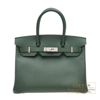 Hermes Birkin bag 30 Vert anglais Epsom leather Silver hardware