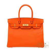Hermes Birkin bag 30 Feu Epsom leather Gold hardware