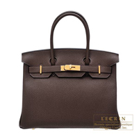 Hermes Birkin bag 30 Cacao Togo leather Gold hardware