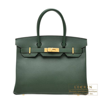 Hermes Birkin bag 30 Vert anglais Epsom leather Gold hardware