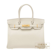 Hermes Birkin bag 30 Craie Epsom leather Gold hardware