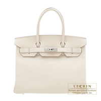 Hermes Birkin bag 30 Craie Epsom leather Silver hardware