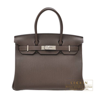 Hermes Birkin bag 30 Ecorce Togo leather Silver hardware