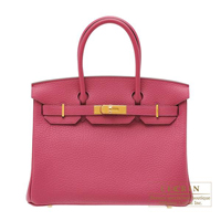 Hermes Birkin bag 30 Tosca Fjord leather Gold hardware