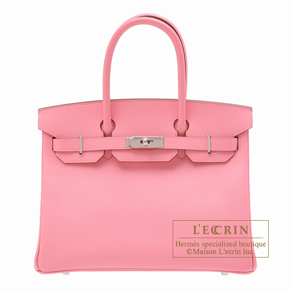 Hermes Birkin bag 30 Rose confetti Epsom leather Silver hardware