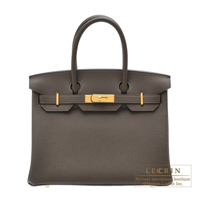 Hermes Birkin bag 30 Ecorce Togo leather Gold hardware