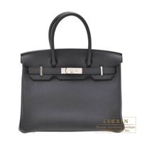 Hermes Birkin bag 30 Plomb Togo leather Silver hardware