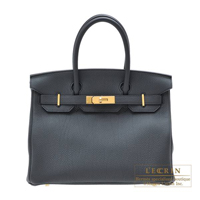Hermes Birkin bag 30 Plomb Togo leather Gold hardware